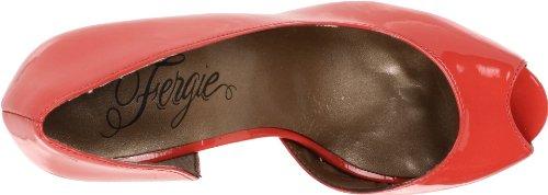 Fergie Femme Positive Peep-toe Pompe Corail