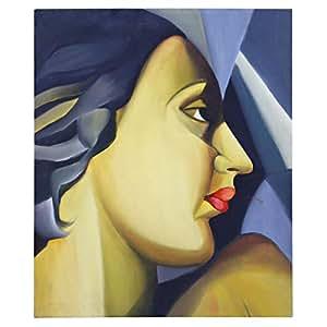 GrandUAE Canvas Multi Color Painting - Lady