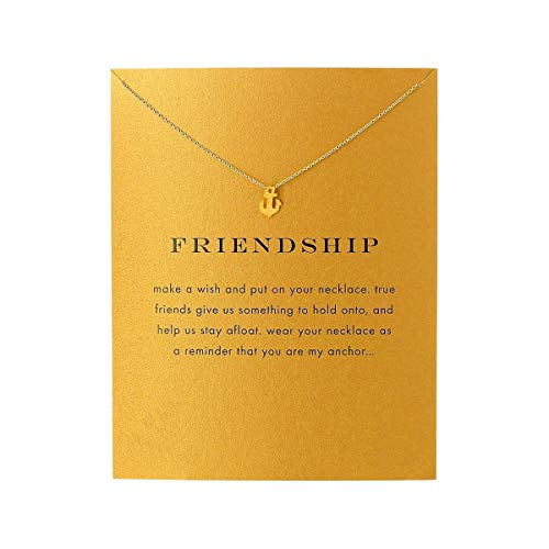 QXFQJT Friend Necklace Anchor Pendant Friendship Necklace