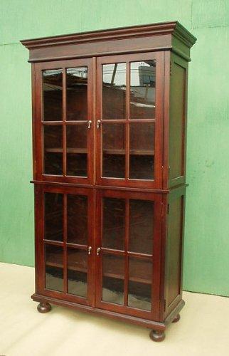 D-Art Henredon Glass Bookcase Cabinet - in Mahogany Wood (Henredon)