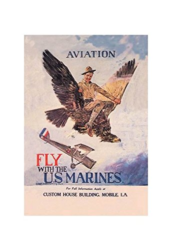 amazon com buyenlarge fly with the u s marines print black framed