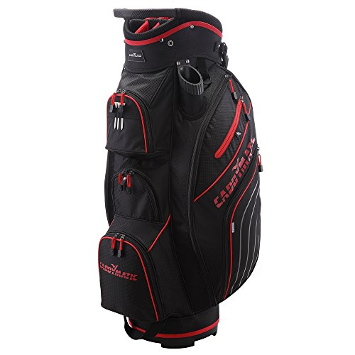 Caddymatic Golf Deluxe 14-Way Cart Bag (Red)