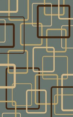 Central Oriental 8807BL13 Interlude Circuitry Grey/Blue 9-Feet 10-Inch by 12-Feet 10-Inch Area Rug
