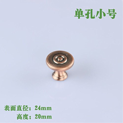 10pcs/set 24X20mm Red Bronze Single hole simple drawer cabinet door handle Pull S Size