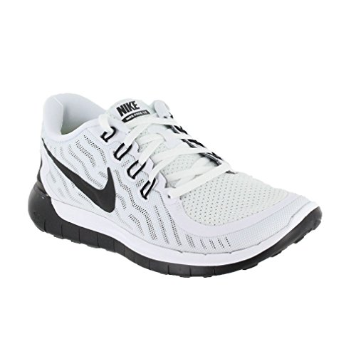 Nike Free Women Shoes (Nike 724383-100-9 Free 5.0 Womens Running Shoes, White & Black - 9)