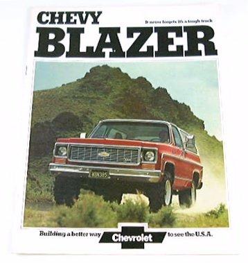 1974 74 Chevrolet Chevy BLAZER Truck BROCHURE 2wd 4wd 2wd Suv