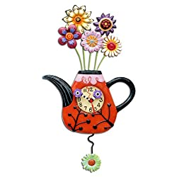 Flower Tea-ful Clock Allen Studio Designs