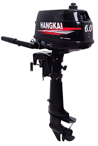 SEA DOG WATER SPORTS Outboard Motor 2 Stroke Inflatable Fishing Boat Engine ... (6 HP)