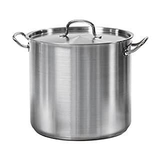 Tramontina 80117/581DS 24 Qt. Stainless Steel Covered Stock Pot, Quarts