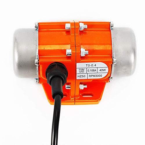 Mein LAY Concrete Vibrator Vibration Motor AC 110V 3600 rpm Aluminum Alloy Vibrating Vibrators for Shaker Table (40W)