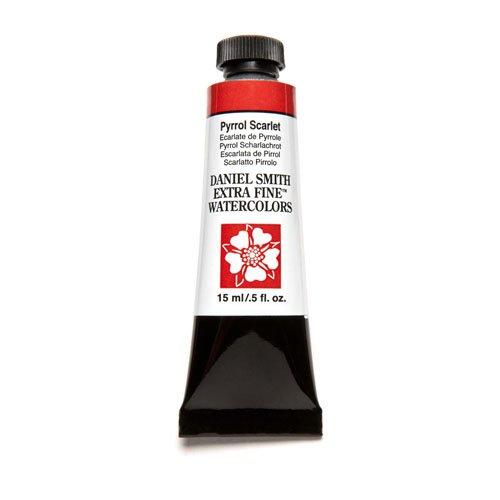 (Daniel Smith Extra Fine Watercolor 15ml Paint Tube, Pyrrol Scarlet (284600085))