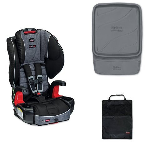 Britax Frontier G1.1 Clicktight Harness-2-Booster Car Seat with Vehicle Seat Protector and Kick Matt