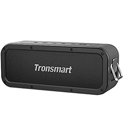 Portable Bluetooth Speakers, Tronsmart Force 40W IPX7 Waterproof Bluetooth 4.2 Wireless Speakers with 15-Hour Playtime, TWS, Dual-Driver with Built-in Mic, NFC, Deep Bass