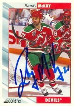 cde12088a Randy McKay autographed Hockey Card (New Jersey Devils) 1992 Score  339 -  Autographed