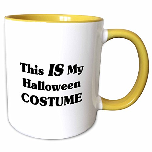 3dRose Mark Andrews ZeGear Seasonal - This IS My Halloween Costume - 11oz Two-Tone Yellow Mug (mug_17062_8) (This Is Halloween Pics)