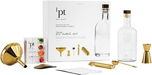 Teroforma 1pt Bar Bottle Kit - Home Bar Tools for Infused Cocktails (7-Piece Set) ()