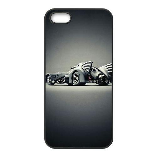 Batman Batmobile coque iPhone 5 5S Housse téléphone Noir de couverture de cas coque EBDOBCKCO09544