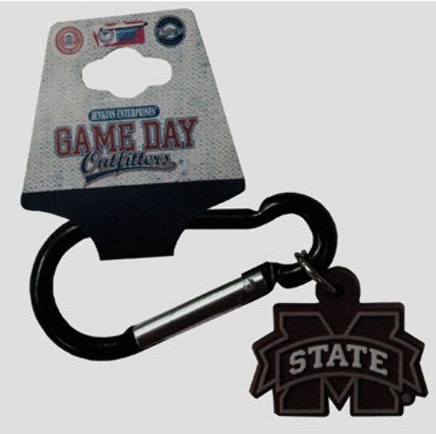 Game Day Outfitters 1937924 Mississippi State - Keychain Carabiner PVC - Case of 144 by Game Day Outfitters