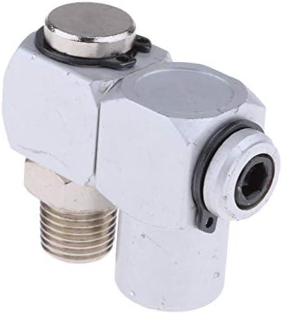 エアーホース継手 標準1/4インチ 360度回転 エアホースアダプター アルミ合金 空気圧コネクタ