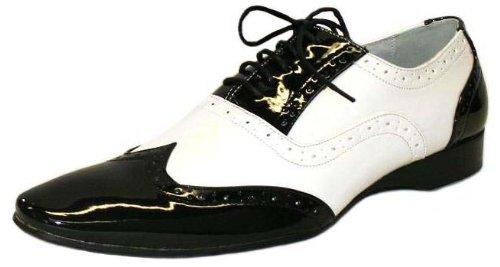 Chaussures Hommes - Vernis Bicolore Noir et Blanc