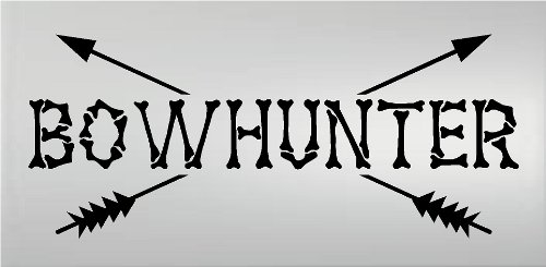 Bowhunter Deer (BOWHUNTER HUNTING WALL DECAL VINYL LETTERING WORDS QUOTE HOME DECOR ELK DEER OUTDOORS)