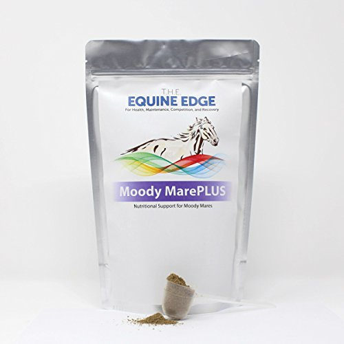 T.H.E. Equine Edge Moody MarePLUS - Extra Moody Mare, Gelding Calming Supplement, 30 Servings (Support Concentrated Hormonal)