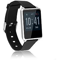 OPTA TK002 Rubber Bluetooth Smart Fitness Band Heart Rate Sensor Monitors (Silver)