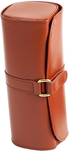 Lisette Leather Jewelry Traveler - 8.75W x 3.5H in. Tan