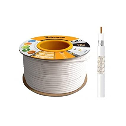 Televes 2127 - Bobina de cable coaxial (100 metros) color blanco: Amazon.es: Electrónica