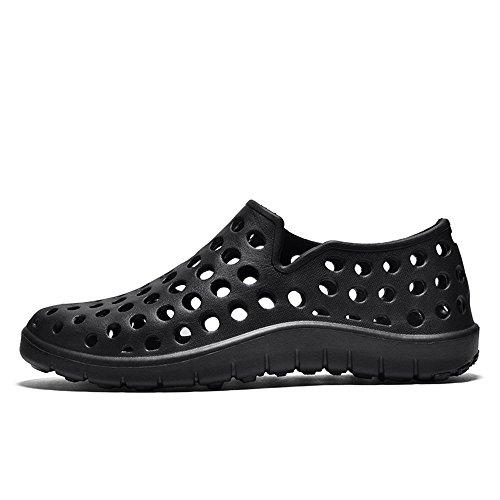 Parejas Heel Aire Slip Libre Flat Hombres dog On de Zapatos Al Sandalias bone Impermeable los Hollow Negro Dig Zuecos Vamp gT6w8Zqwz