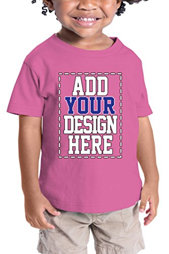Custom Shirts for Toddlers - Design Your OWN Kids Shirt - Personalized Outfits for Babies Raspberry -