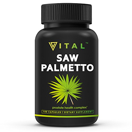 Extra Strength Saw Palmetto Supplement – Prostate Health for Healthy Urination Frequency & Flow Formula – May Help Block DHT to Prevent Hair Loss – Non GMO, GLUTEN FREE Prostate Supplement