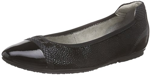 22139 blk Women's Ballerinas Black Closed black Schwarz Tamaris Str 009 Hqwgdp