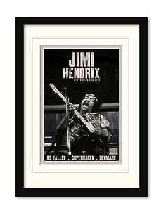 Jimi Hendrix–Copenhagen–Montado de Gera HMT MDF con de acrílico tamaño 32,5x 45x 1,2cm