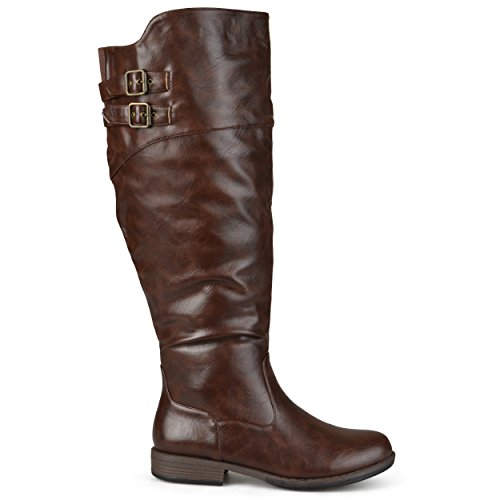 brinley-co-womens-regular-and-wide-calf-knee-high-double-buckle-riding-boot-brown-10-wide-calf