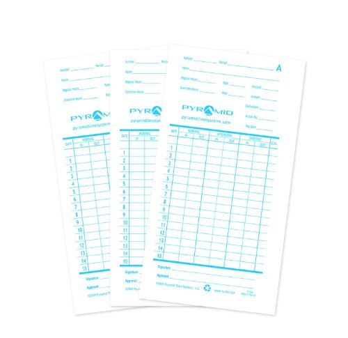 - Pyramid 1,000 Count Time Cards for The Pyramid 2600 Swipe Cards (42415-10M)
