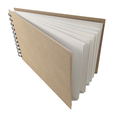 Artway ENVIRO A4 Skizzenbuch, spiral-gebundenes Skizzenbuch in Querformat, 70 Seiten, 100% recycletes Umwelt-Zeichenpapier, 170g/m2, mit schwarzer Doppelspirale und natürlichen Hartfaser-Deckeln