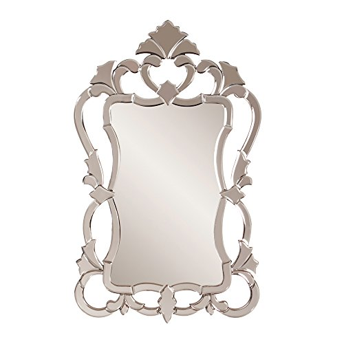 Howard Elliott Contessa Rectangular Hanging Wall Mirror, Mirrored Frame, 26 x 43 Inch