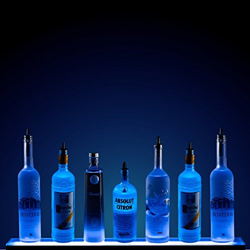 - 3' LED Liquor Shelf with Wireless RF Remote - Home Bar Lighting
