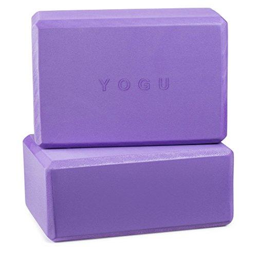 Yoga Blocks, Set of 2 By Yogu (Purple, 9″x6″x4″)