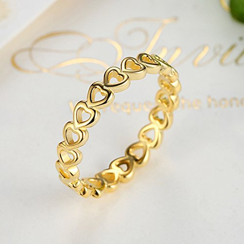 Everbling Linked Love 925 Sterling Silver Stackable Ring by Everbling (Image #2)'
