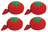 Dritz Tomato Pin Cushion W/Strawberry Emery, 2.5' (4 Pack)