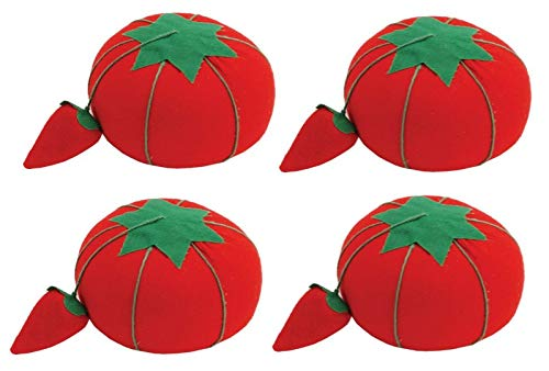 Dritz Tomato Pin Cusion W/Strawberry Emery, 2.5 (4 Pack) 2.5 (4 Pack)