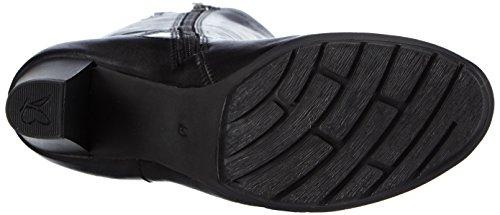 Caprice 25517 - botas de caño alto de cuero mujer negro - negro