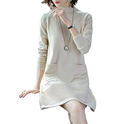 Intera A Donna Lunghe Bianco Maniche Sexy Maglione Crema Con Manica Sezione Mezza Shirloy TqwzAExv4g