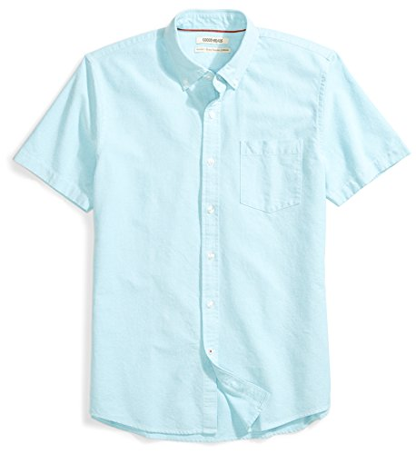 Goodthreads Men's Standard-Fit Short-Sleeve Solid Oxford for sale  Delivered anywhere in USA