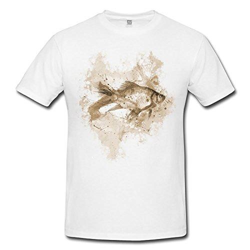 Fisch Lady T- Shirt , Stylisch aus Paul Sinus Aquarell Sepia Style