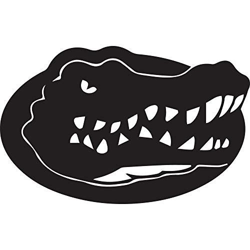 NBFU DECALS Logo Florida Gators (Black) (Set of 2) Premium Waterproof Vinyl Decal Stickers for Laptop Phone Accessory Helmet CAR Window Bumper Mug Tuber Cup Door Wall Decoration (Florida Gators Helmet Decal)