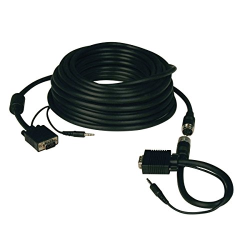 Tripp Lite High Resolution SVGA / VGA Monitor Easy Pull Cable with Audio and RGB coax (HD15 M/M) 100-ft.(P504-100-EZ) ()