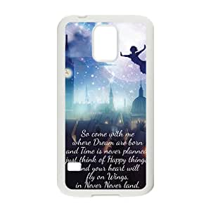 Peter Pan Flying Quotes Pattern Plastic Case For Samsung Galaxy S5